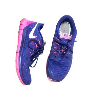 Nike 5.0 free run purple & pink running shoes 8.5